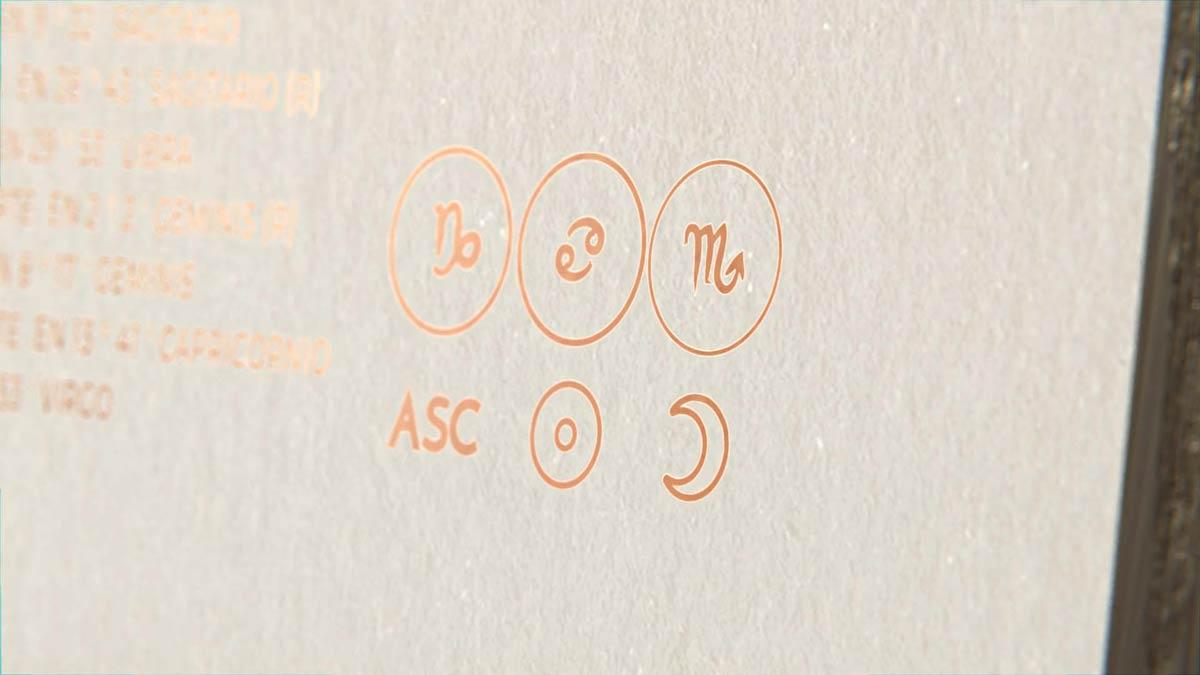 Arte Astral - Signos Ascendente Solar y Lunar detalle
